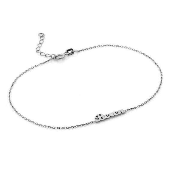 Custom Name Anklet - HighToneJewelry