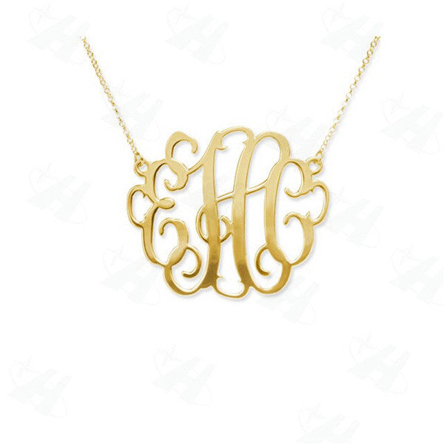 Custom Monogram Personalized Pendant - HighToneJewelry