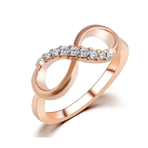 Diamond Covered Rose Gold Infinity Ring - HighToneJewelry
