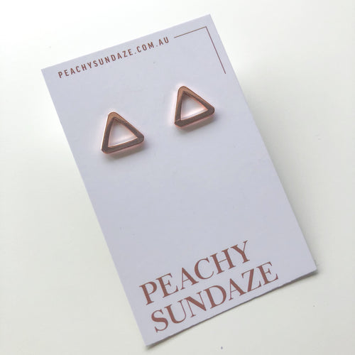 Rose gold plated studs
