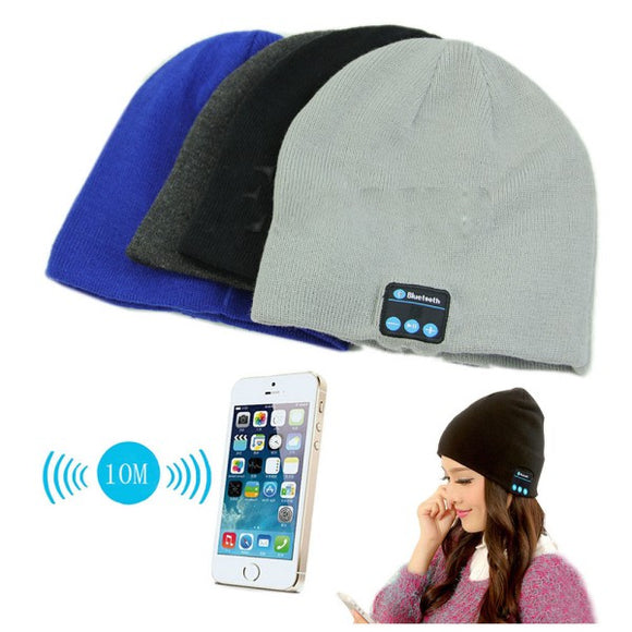 Bluetooth Talking Beanie Headset For Smart Phone colors