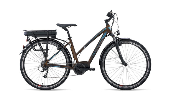 BE 20 E-BIKE TRK LADY 28 ACERA 9S BAFANG MAX DRIVE - Chain Driven Cycles