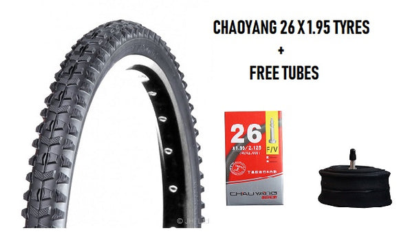 CHAOYANG MTB Tyres 26 x 1.95 Ultralight Folding Tyre + Free Tube - Chain Driven Cycles