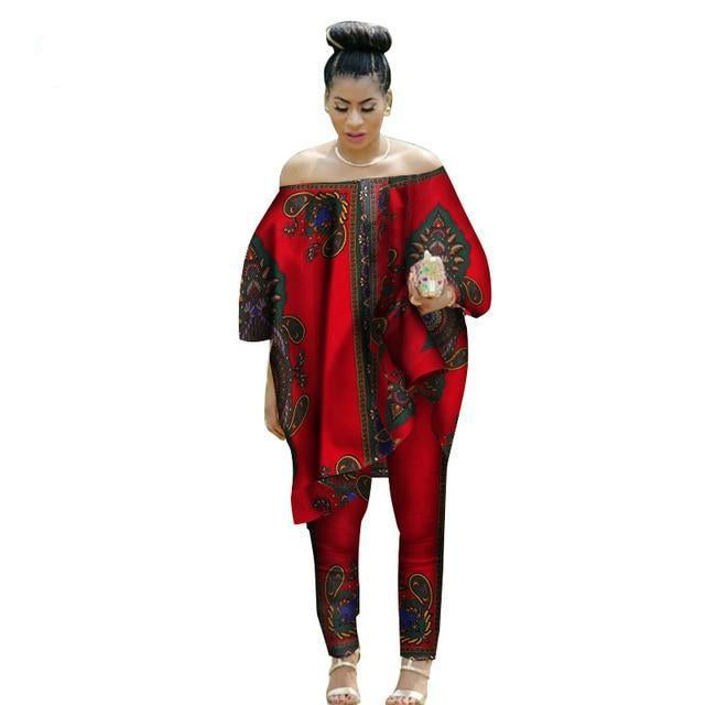 2d1a45e29f 2019 African Women 2 Piece Set Dashiki Suits Clothes Dukaiko