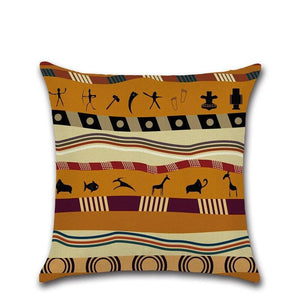 2pc/set Linen Pillow Case For Livingroom African Printed Ancient Ethnic Style Home Decorative Pillowcase 4 Dukaiko