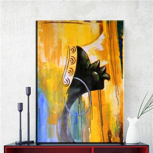 abstract african women canvas oil art painting unframed art Dukaiko