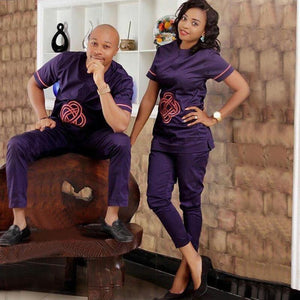 africa couple clothes dashiki clothing tops set pant suits Dukaiko