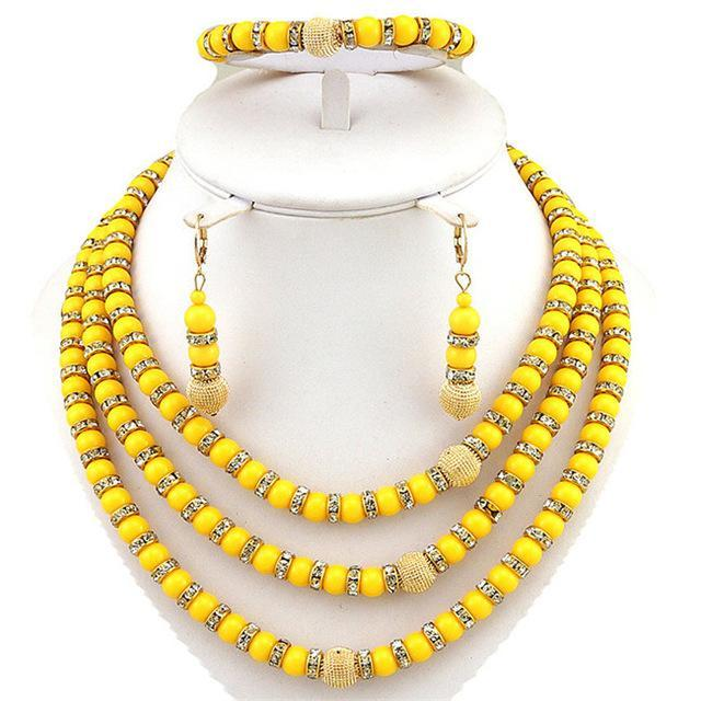 african bead jewelry 24k gold fine jewelry sets Dukaiko