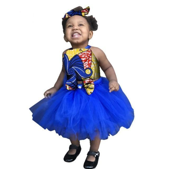 african clothing for children o-neck traditional Dress Dukaiko