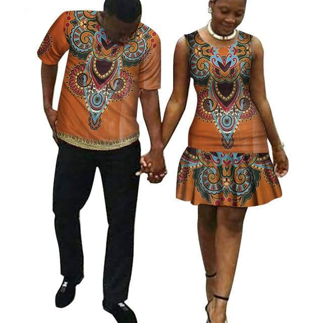 African Couple Clothing dashiki Plus Size Clothes Dukaiko
