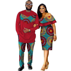African Couple Dashiki Print  Clothing Dukaiko