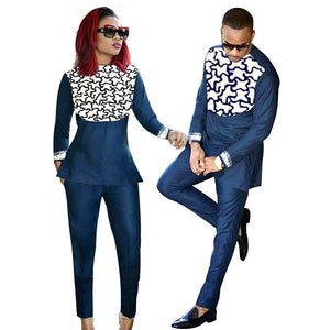 african Couple wear embroidery design clothing for men and women Dukaiko