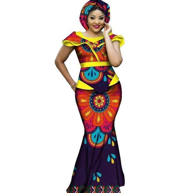 African Dashiki Plus Size Long Women Set Clothing Dukaiko