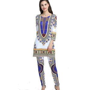 African Dashiki Traditional Two Piece Set Dukaiko