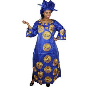 african dresses for women kaftan dera design long dress with scarf Dukaiko