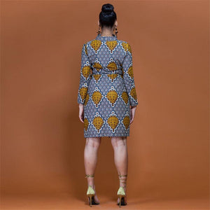 African Ethnic Traditional Elegant Dress Dukaiko