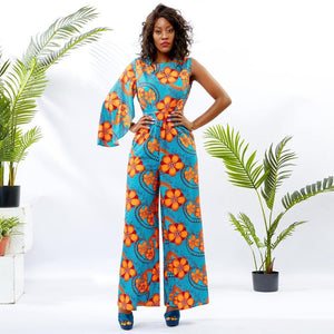 African jumpsuit cotton wax print african clothes Dukaiko