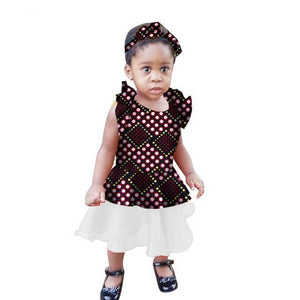 African Kids Girls Traditional African Children Clothing Dukaiko