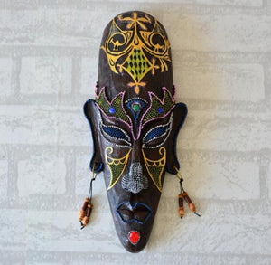 African Mask Wall Hangings Medium Creative Mural Dukaiko