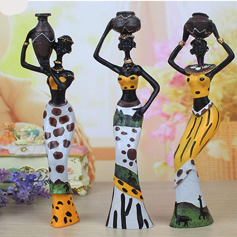 African Resin Ornaments Creative Sculpture Statue Dukaiko