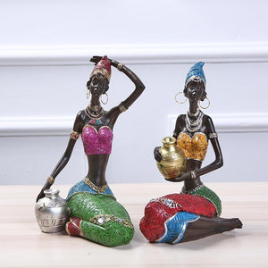 African Statue Resin Ornaments Statue Creative Sculpture Dukaiko