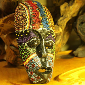 African Stippling Mask Hanging Ornaments Gift Crafts Dukaiko