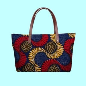 African Traditional Printed Designer Handbags Dukaiko