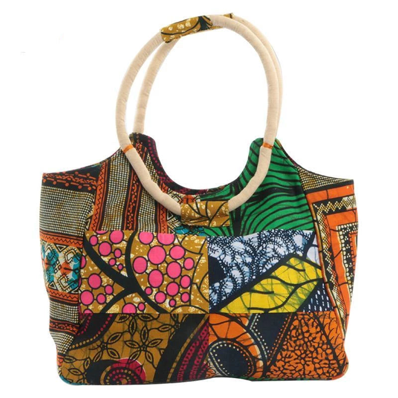 african traditional super wax fabrics handbags for women Dukaiko