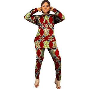 African Two Pieces Women Clothing Plus Size Dukaiko