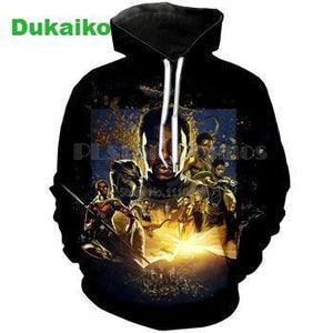 Black Panther Stylish Hooded Hoodies 3d Print Dukaiko