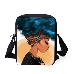 Black Queen Shoulder Crossbody Bags for Women Black Art African Girl Print Crossbody Bags Kids Dukaiko
