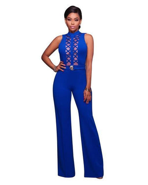 Bodycon Backless Romper Hollow Out Jumpsuits Dukaiko