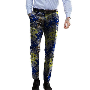 Casual Trendy Africa Print Men Suit pant Dashiki Customized for men Dukaiko