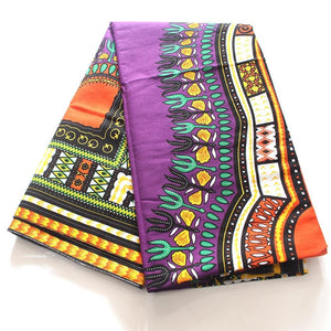 Dashiki Colorful Pattern Printed 100% Cotton Fabric Dukaiko