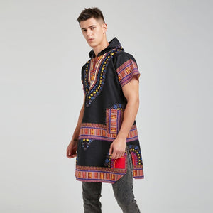 Dashiki Print Loose Shirt African Hoodies Traditional Dukaiko
