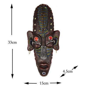 hand painted Africa mask Home vintage wall hangings Dukaiko