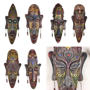 Hand Painted big resin craft Africa mask Dukaiko