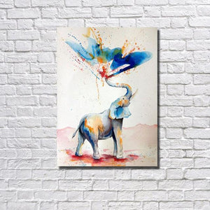 Hand Painted Color Animals Oil Paintings on Canvas dukaiko