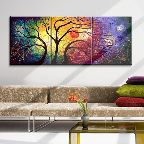 Hand Painted Tree Oil Canvas Wall Art Dukaiko