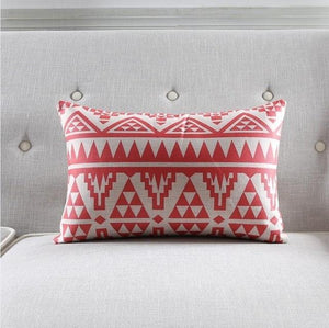 New Coral Red African Cushion Cover Home Decor Pillow Case Dukaiko
