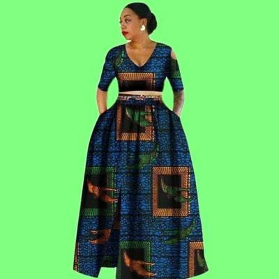 Tradition 2 Piece Plus Size Dashikis african wax prints clothing for women