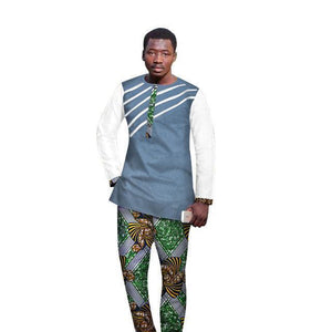 Traditional African Wax Print 2 Piece Pants Dukaiko