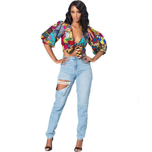 Trendy new fashion style summer African women polyester size Dukaiko