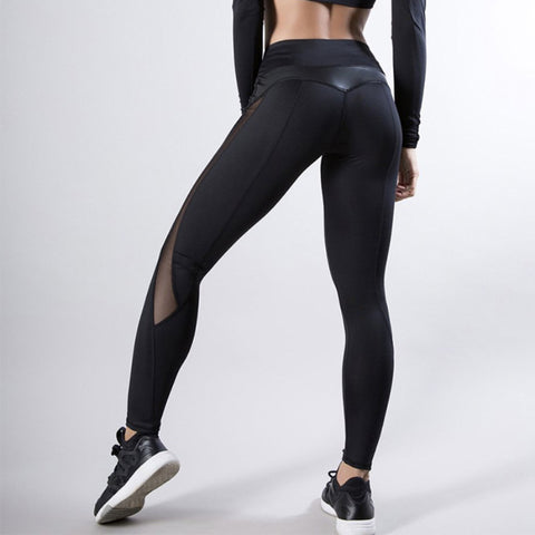 Fitness Leggings Fitness Leggings Women Women Trousers Women'S Clothing High Waist Fitness Legging High Waist Legging Fashion Leggings Jeggings Women Leggings Women Women Leggings PU Leather Patchwork Leggings Sexy Leggings Stretch Fitness Leggings Sportswear Women'S Workout Leggins Solid High Waist Fitness Legging