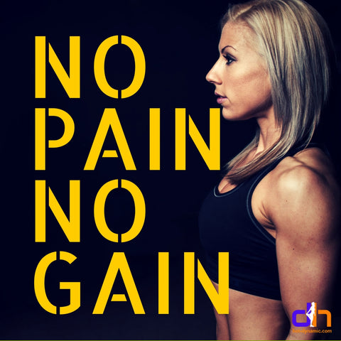 No pain, no gain! Best fitness motivational quotes by HotDynamic