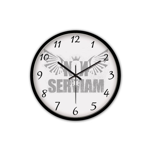 Non-Ticking Silent Wall Clock with Modern and Nice Design for Wall Decoration (Black) - HotDynamic
