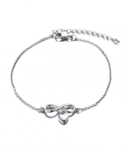 Rhodium Infinity 925 Sterling Silver Bracelet HB010C6A