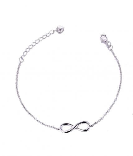 White Gold Infinity 925 Sterling Silver Bracelet HB002P7A