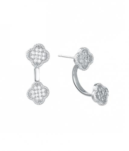 Rhodium CZ Jackets Clover 925 Sterling Silver FE22606A