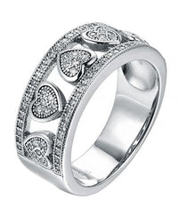 Rhodium CZ Eternity Wedding 925 Silver Jewelry Ring FL01302A